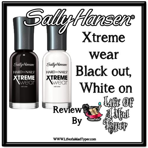 Sally Hansen Xtreme wear: black out, white on