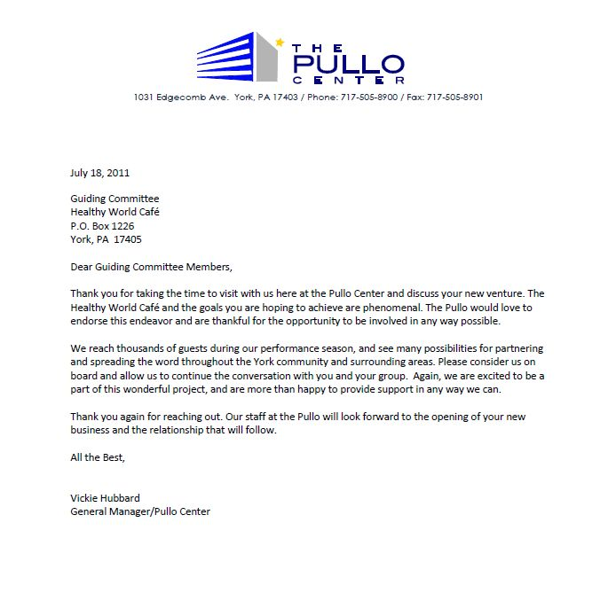 Healthy world cafe new letter of support thank you pullo center new letter of support thank you pullo center expocarfo Images