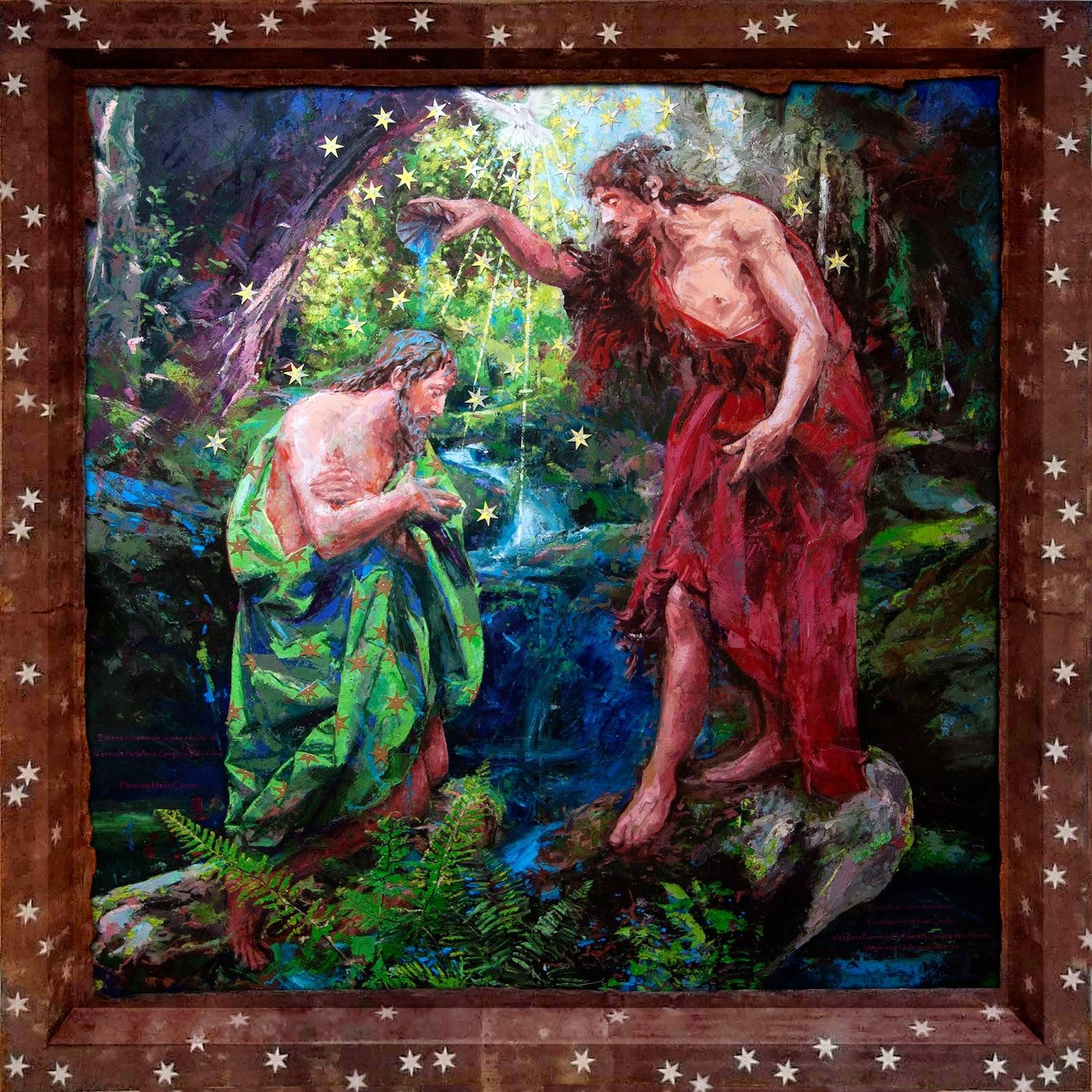 """El Bautismo de Jesús"""" ~ De la materia y su memoria. Florencio Maíllo"""
