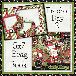 Jolly Days 5x7 Brag Book Freebie Day 2