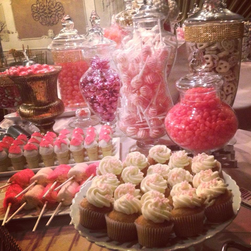 Pink, Blush, Ivory, White, Gold, Silver, Bling Wedding Candy ...