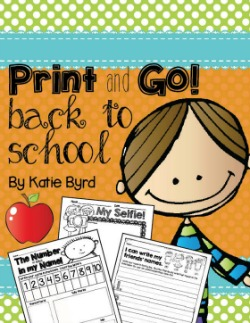 Print and Go! Back to School
