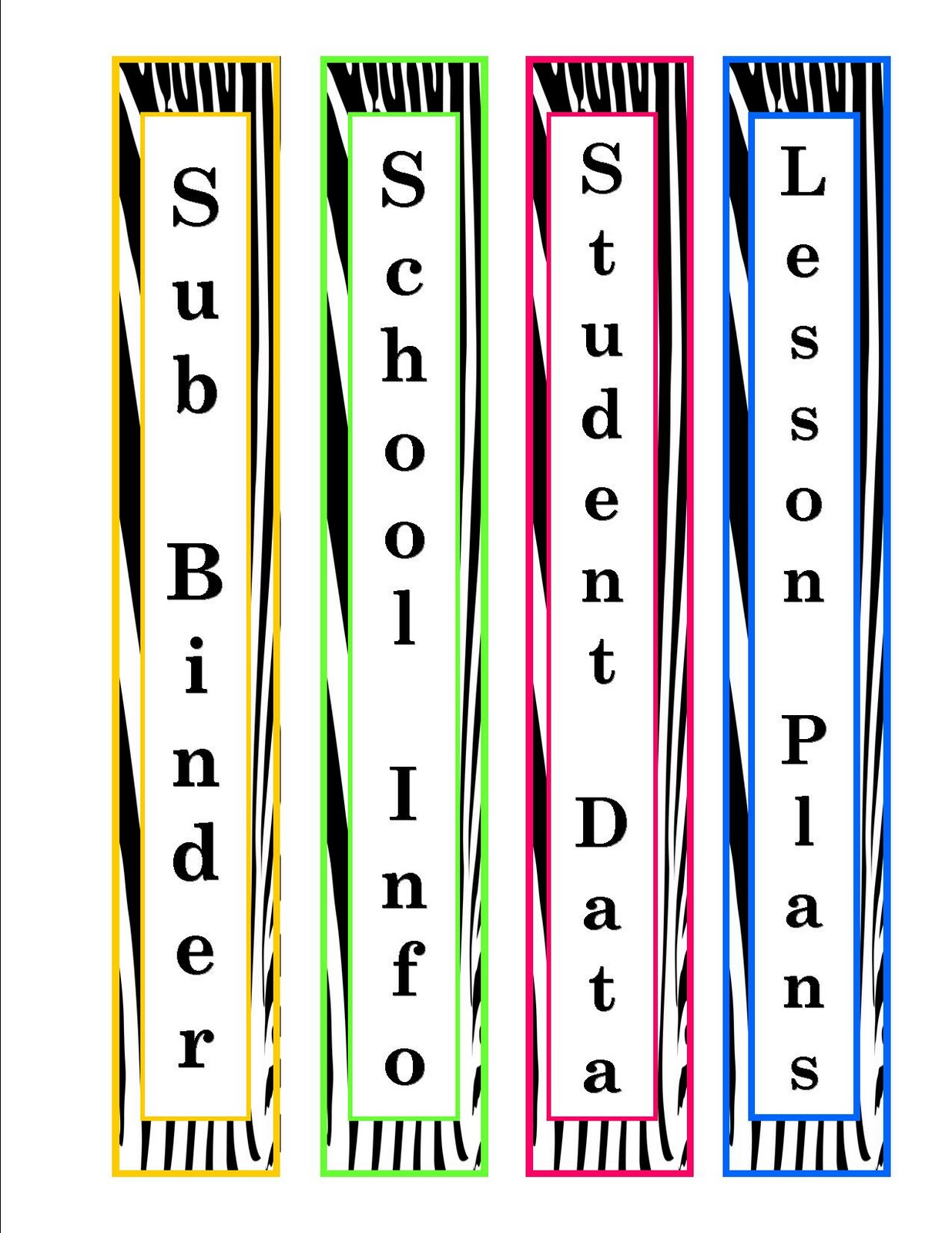 notebook spine labels