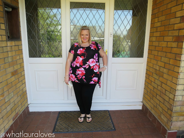 Pink floral top gemma collins boutique