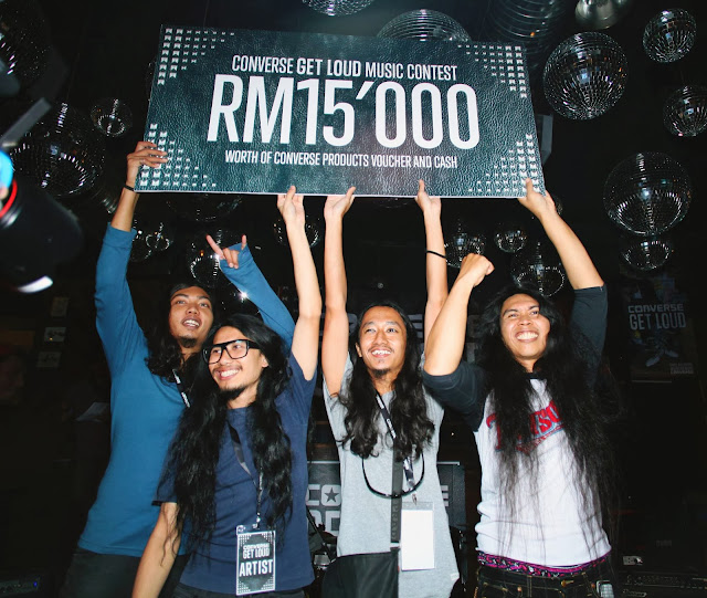 Sepatu Sixtynine winners of Converse Get Loud Finale Malaysia 2013
