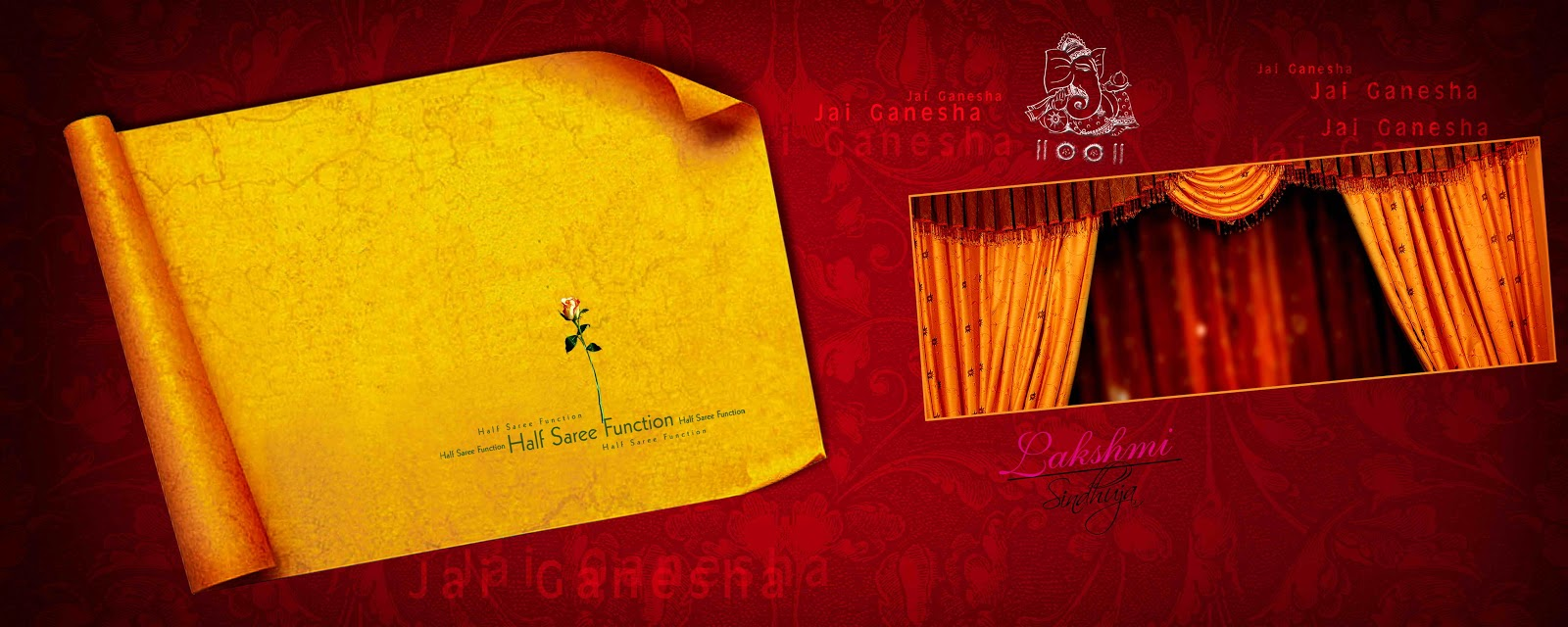 Indian wedding invitation psd templates free download design / 2018