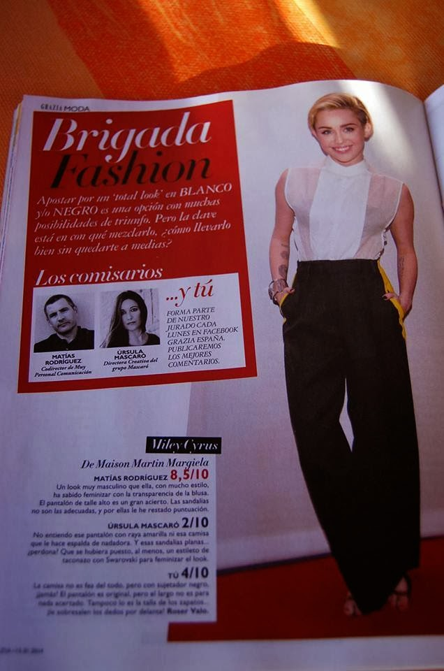LOOK DE MILEY CYRUS EN BRIGADA FASHION DE GRAZIA