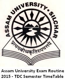 Assam University Exam Time Table 2016 Nov Dec Schedule