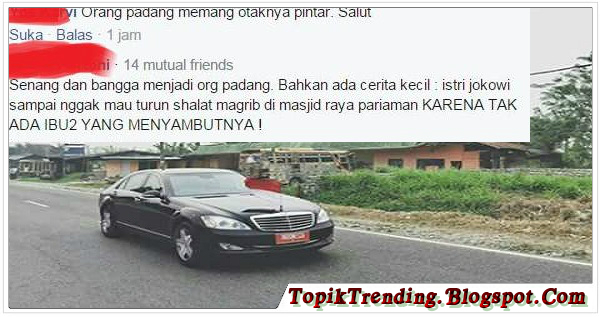 Sambutan Rakyat Padang Terhadap Kedatangan Jokowi