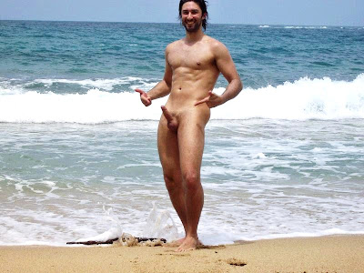 Naked amateur guys: Nude beach