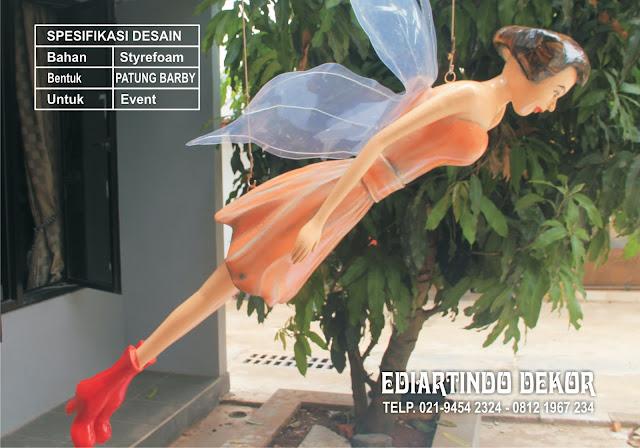 Bikin Patung Barby Dengan Styrefoam