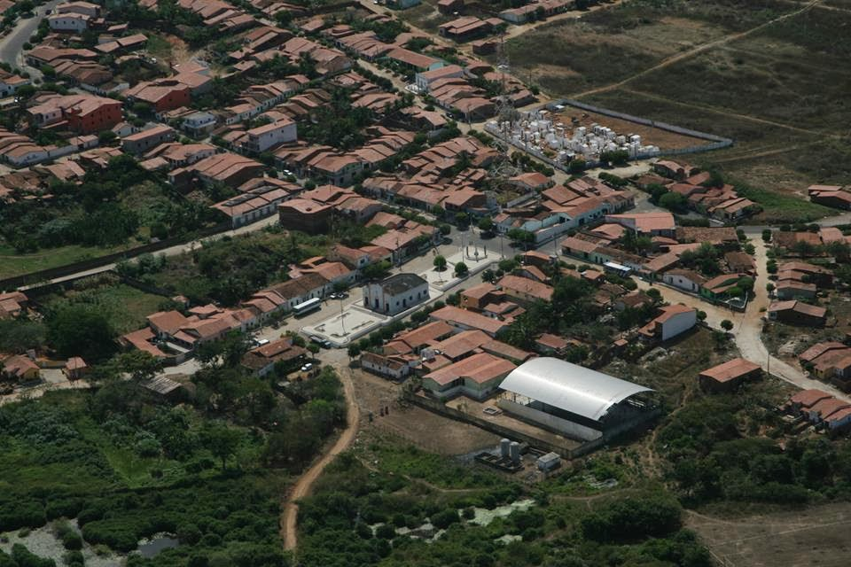 Vista aérea de parte da sede de Ibaretama