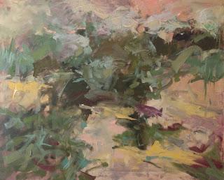 Abstract oil painting by Karri McLean Allrich 24x30 Desert Walk
