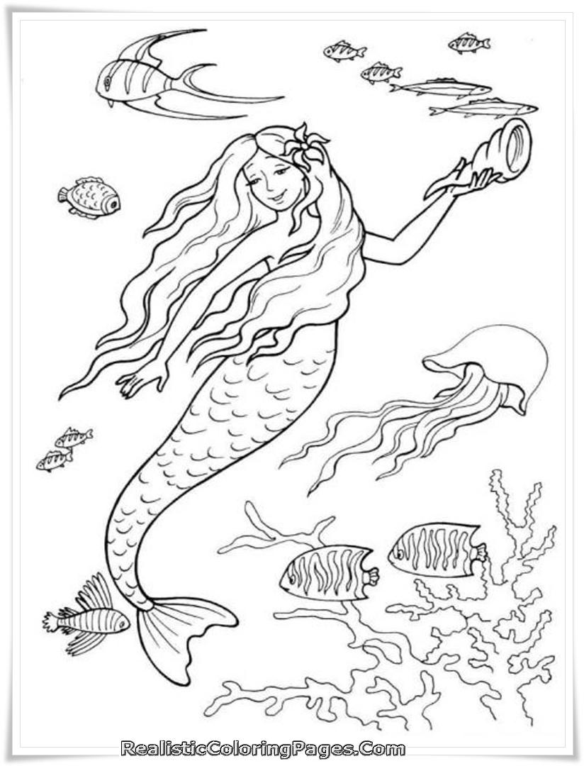 Barbie In A Mermaid Tale Printable Girl Coloring Sheet