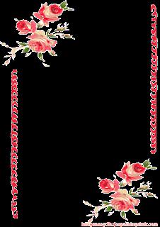 papel para escribir con rosas