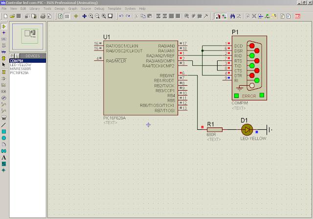 Simulação de Porta Serial no Proteus