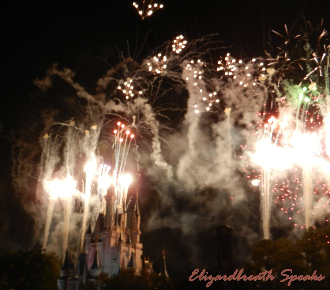 fireworks at Disney World, Florida