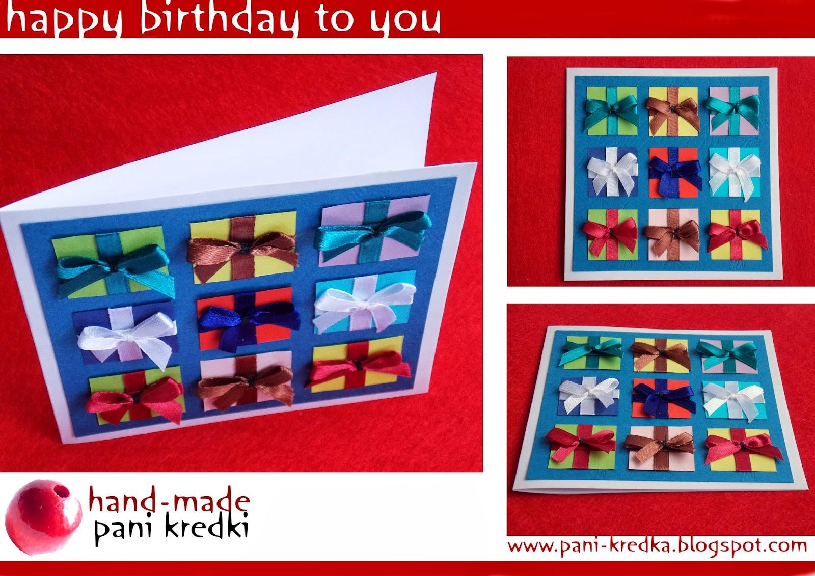 moc prezentów – kartka urodzinowa