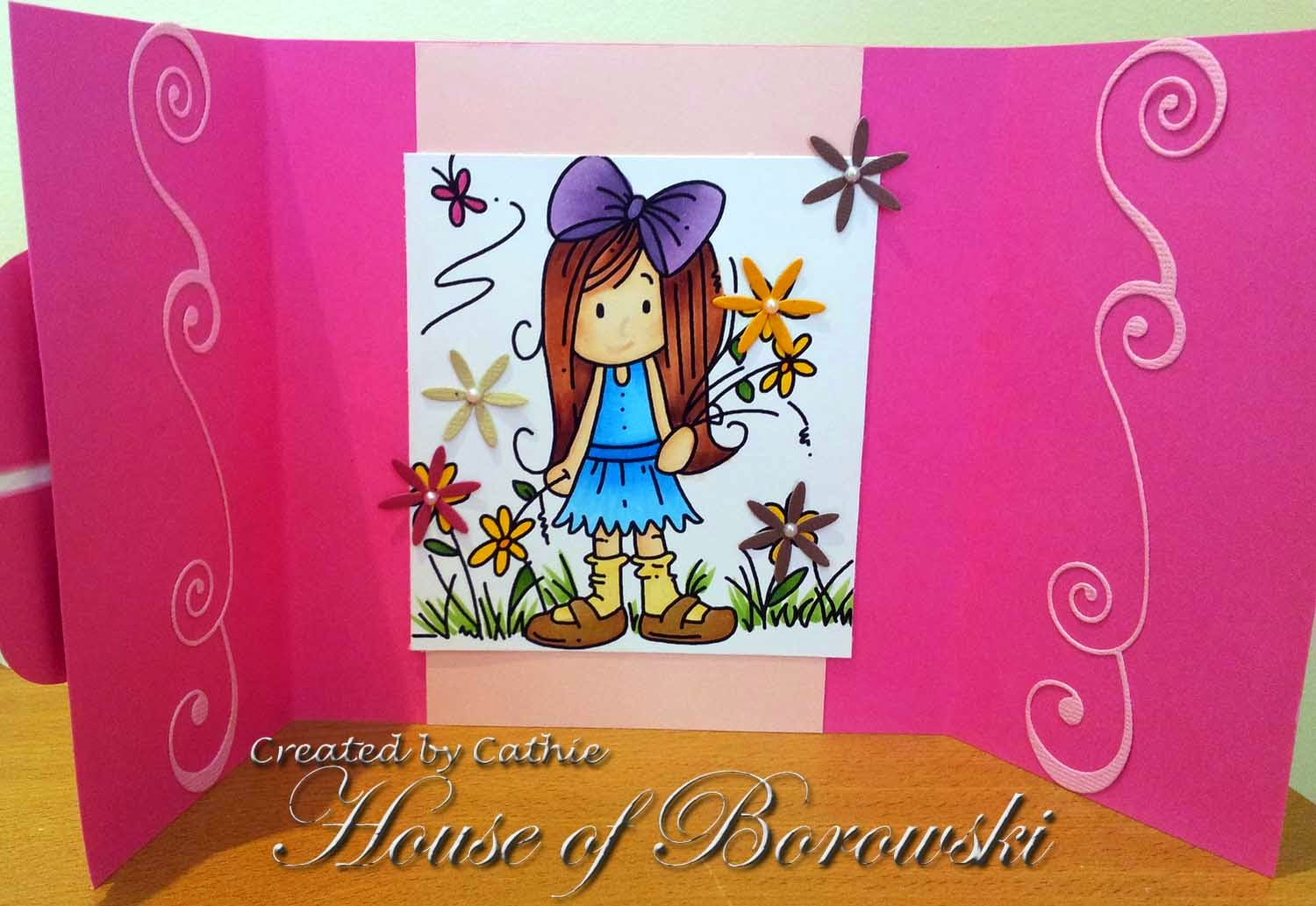 Diecut Divas, Bugaboo Stamps Ava Flower Patch