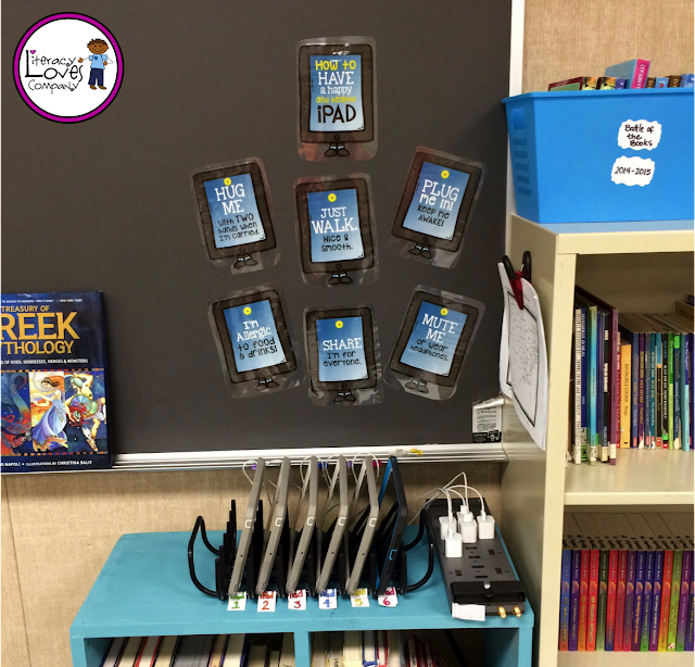Not sure how to organize those devices?  Tired of the cords always tangling?  Classroom organization pic-tour!