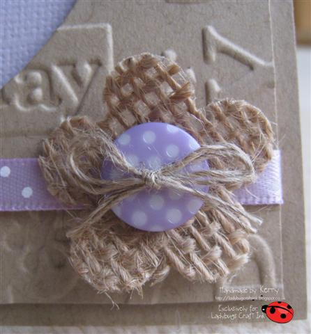 Ladybug crafts ink flower power and some ribbon please for How to make hessian flowers