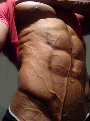 Solid hard 6 pack abs