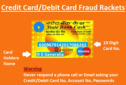 Credit Card/Debit Card fraud Rackets-How The work and Safety measures