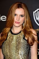Bella Thorne hot in sexy sheer dress at the InStyle And Warner Bros. 2016 Golden Globe Awards After Party red carpet dress photo