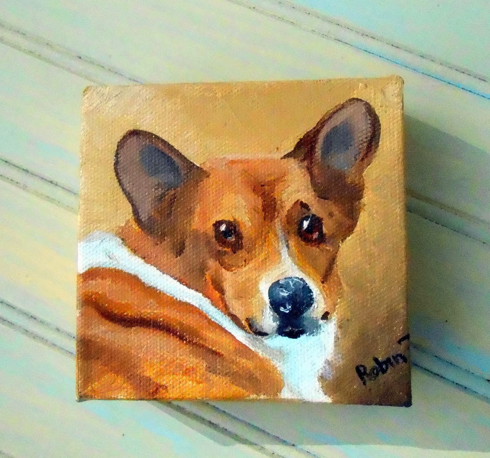 Corgi Custom  Dog Portrait