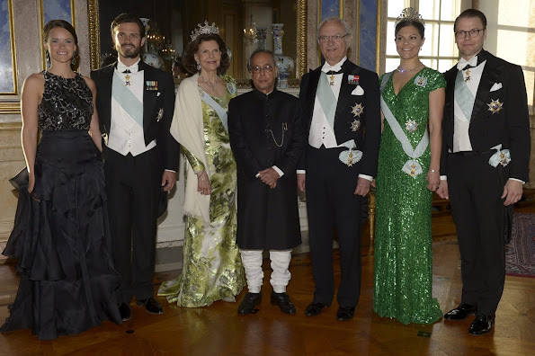 King Carl Gustaf and Queen Silvia of Sweden, Crown Princess Victoria and Prince Daniel, Prince Carl Philip's fiancée Miss Sofia Hellqvist