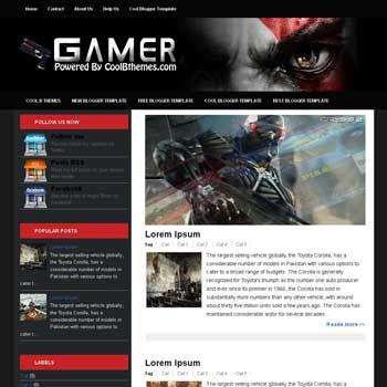Gamer blogger template. template blogspot free. template games blogger template