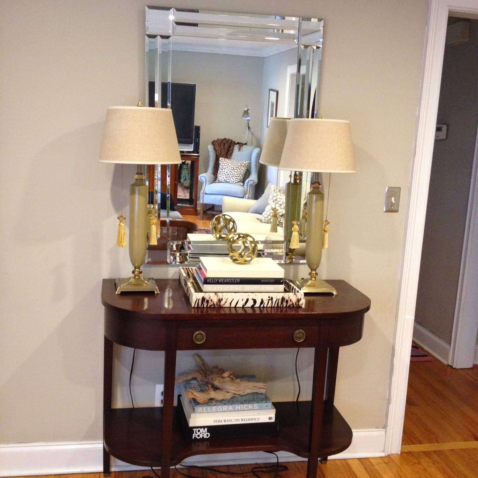 designer bags and dirty diapers: Home Tour The Den ...
