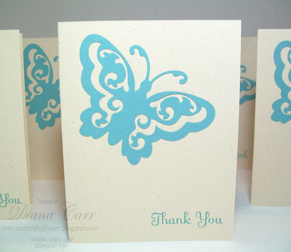 the secret life of paper elegant butterfly thank you cards