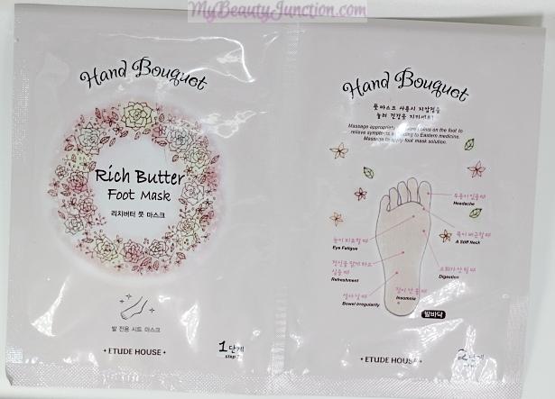 Etude House Hand Bouquet Rich Butter Foot Mask review