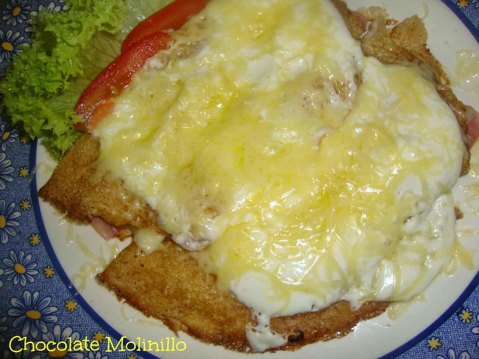 Crepas de Jamón, queso y crema