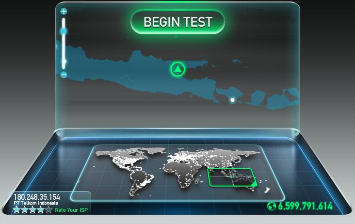 cara perhitungan kecepatan paket internet