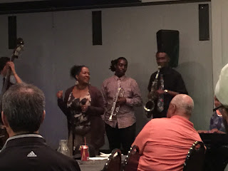 Vocalist Carolyn Fitzhugh sings with Next Generation Jazz Band