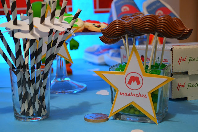 Mario party chocolate mustache pops