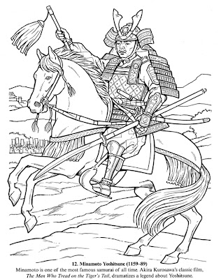 Japanese Samurai Coloring Pages