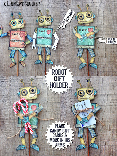 DIY Paper Robot Gift Holders - Robin Davis Studio