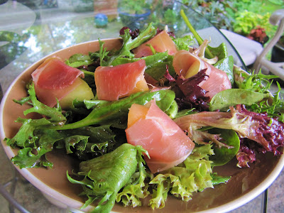 Mama Ozzy's Table: Prosciutto-Wrapped Melon with Baby Greens and Honey ...
