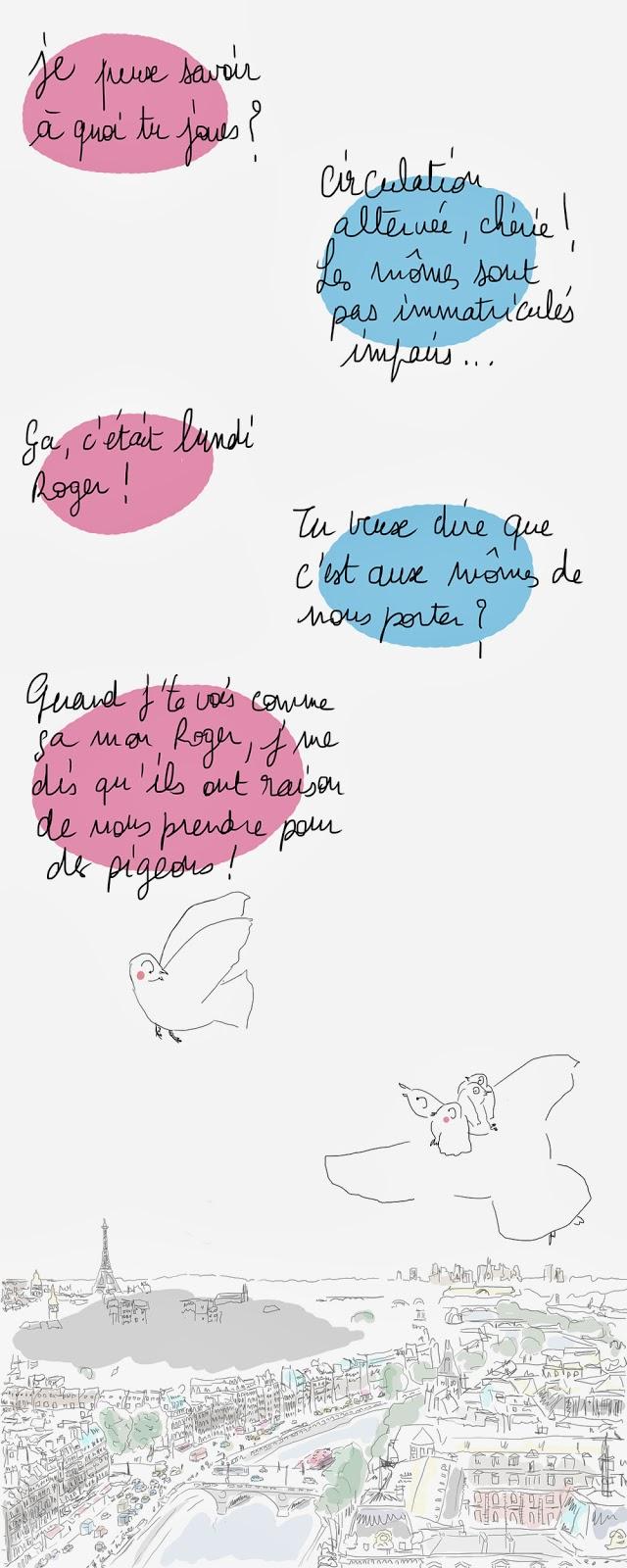 circulation alternée, pollution Paris 2014, illustration la vie selon l, lucie paris legret