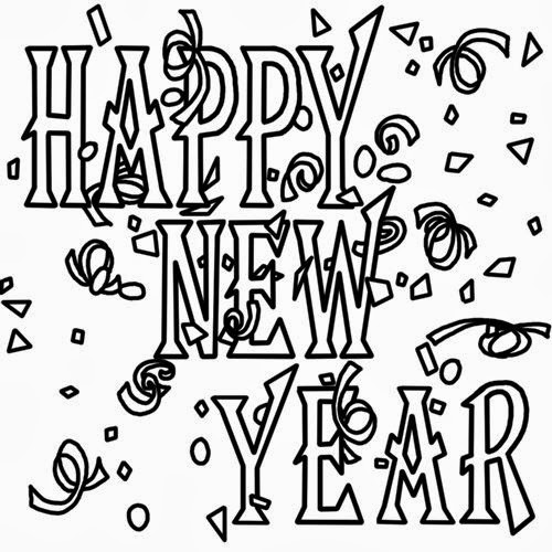 Best Happy New Year 2015 Clipart In Black And White