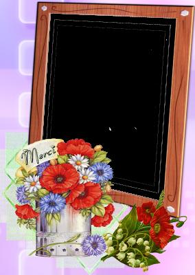 borde de foto con flores