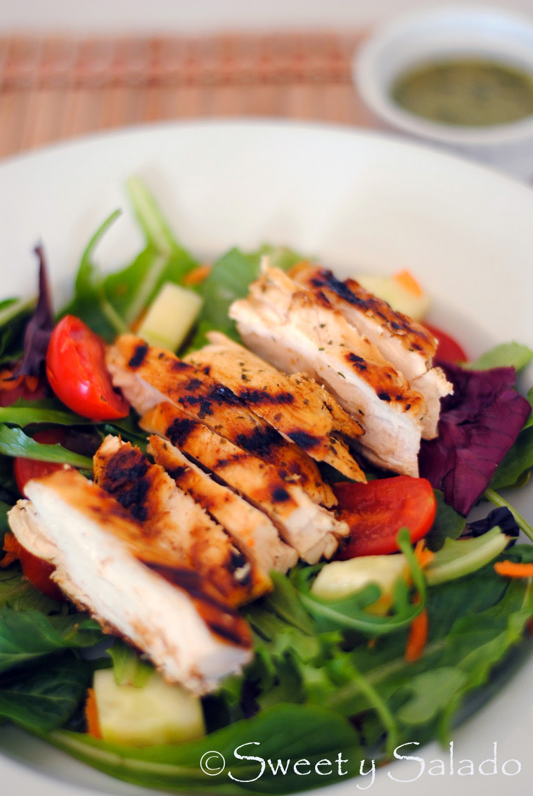 Sweet y Salado: Grilled Chicken Salad With Cilantro Lime Vinaigrette