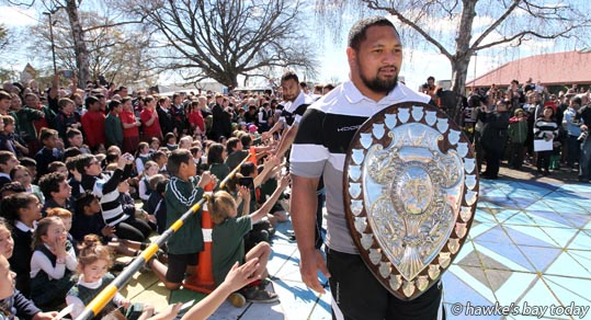 Willie Ioane - Parade in Hastings for the Hawke's Bay Magpies rugby team, followed by a mayoral reception, civic reception at Civic Sqaure. Winners of the Ranfurly Shield, after beating Otago 20-19 in Dunedin on Sunday photograph