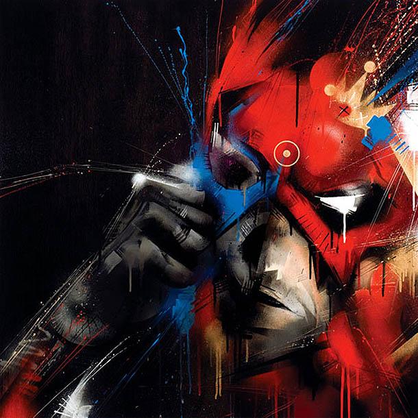 """Inner Demons"" - Pintura expressionista de Meggs"