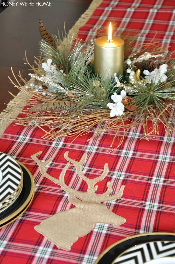 We're christmas Our inches at Honey table Home:  House 90 Christmas runner Decor