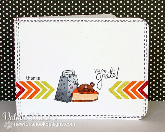 You're Grate! Thank you card by Valerie Ward using Just say Cheese Stamps by Newton's Nook Designs