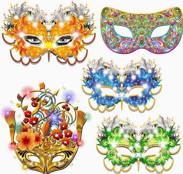 Máscaras de baile de carnaval